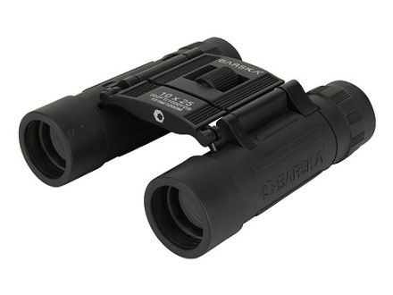 Barska Lucid View Binocular 10x 25mm Roof Prism Rubber Armored Black