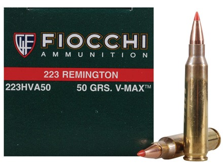 Fiocchi Extrema Ammunition 223 Remington 50 Grain Hornady V-Max Box of 50