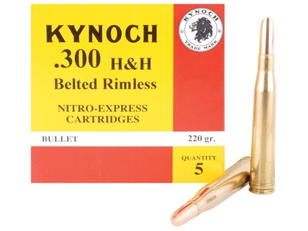 Kynoch Ammunition 300 H&H Magnum 220 Grain Woodleigh Welded Core Solid Box of 5