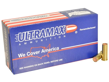 Ultramax Remanufactured Ammunition 38 Special 148 Grain Lead Match Hollow Base Wadcutter Box of 50