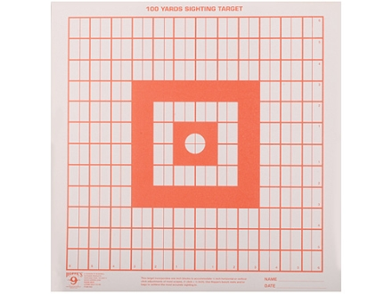 Hoppe&#39;s Target Sighting-In 14&quot; x 14&quot; Package of 100