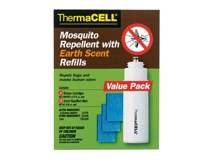 Thermacell Mosquito Repellent Earth Scent Refill Value Pack (Butane .42 oz Pack of 4 and Repellant Mats Pack of 12)