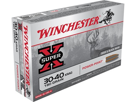 Winchester Super-X Ammunition 30-40 Krag 180 Grain Power-Point