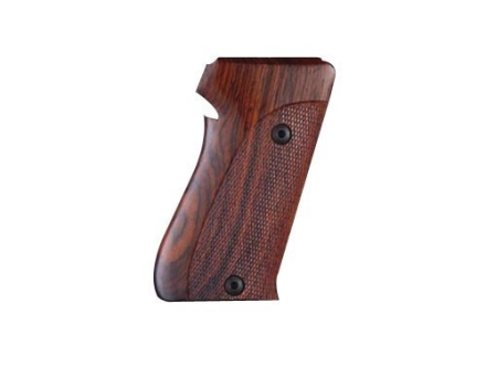 Hogue Fancy Hardwood Grips Sig Sauer P220 Bottom Magazine Release Checkered Cocobolo