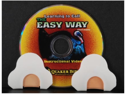 Quaker Boy Easy Way Diaphragm Turkey Call Pack of 2 with Instructional DVD