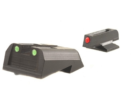 TRUGLO Brite-Site Sight Set 1911 Kimber Front and Rear Sight Cuts Steel Fiber Optic Red Front, Green Rear