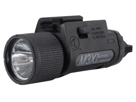 Insight Tech Gear M3X Tactical Illuminator Flashlight Halogen Bulb  fits Picatinny Rails Polymer Black