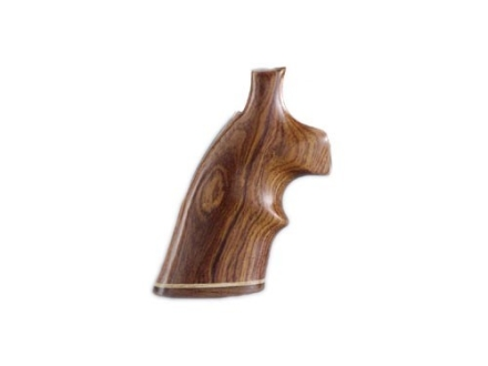 Hogue Fancy Hardwood Grips with Accent Stripe and Top Finger Groove S&W K, L-Frame Square Butt Cocobolo