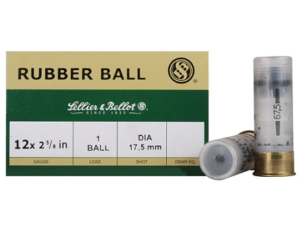 "Sellier & Bellot Ammunition 12 Gauge 2-5/8"" 17.5mm Rubber Slug Box of 25"