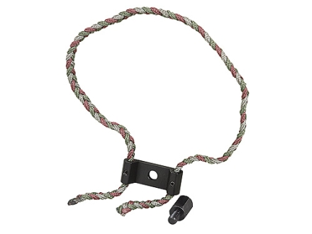 Allen Braided Bow Sling with Aluminum Yoke &amp; Stabilizer Adapter Nylon Camo