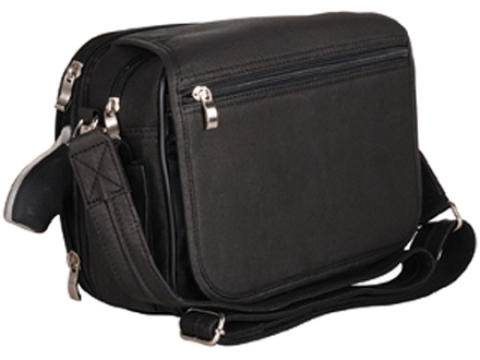 Gun Tote'N Mamas Boston Handbag Leather Black