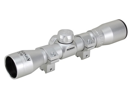 Konus Pro Compact Rimfire Rifle Scope 4x 32mm 30-30 Reticle Silver