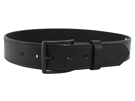 DeSantis E25 Belt 1.5&quot; Steel Buckle Leather Black