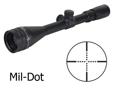Sightron SII Rifle Scope 4-16x 42mm Adjustable Objective Mil-Dot Reticle Matte