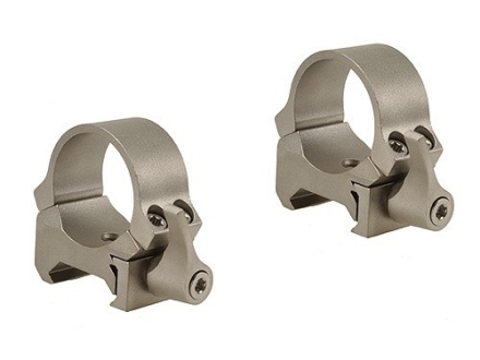 Leupold 1&quot; QRW Quick-Release Weaver-Style Rings Silver Low