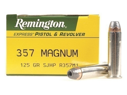 Remington Express Ammunition 357 Magnum 125 Grain Semi-Jacketed Hollow Point Box of 50