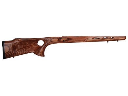 Boyds' Ross Featherweight Thumbhole Rifle Stock Ruger M77 Mark II Long Action Factory Barrel Channel Laminated Wood Brown Drop-In