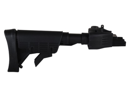 Advanced Technology Strikeforce 6-Position Collapsible Stock with Cheekrest &amp; Scorpion Recoil Pad AK-47, AK-74 Stamped Receivers Polymer Black