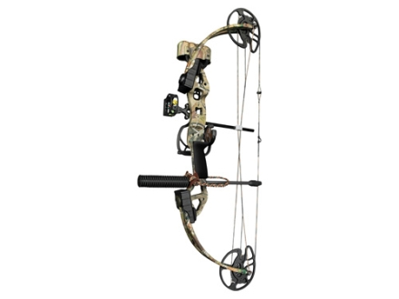 Bear Outbreak RTH Compound Bow Package Right Hand 15-70 lb 16&quot;-30&quot; Draw Length Realtree APG Camo