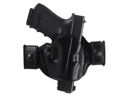 El Paso Saddlery Snap Off Compact Thumb Break Outside the Waistband Holster Right Hand Glock 17, 19, 26, 22, 23, 27, 31, 32, 33 Leather Black