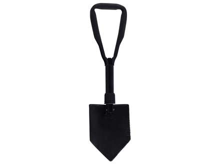 Military Surplus Entrenching Tool with Carrier Steel Black
