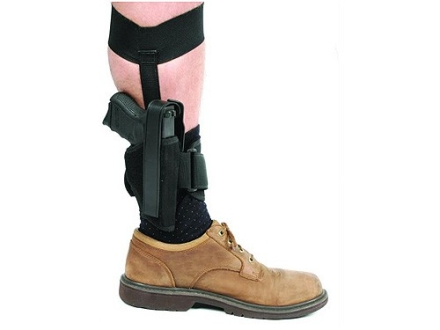 "BlackHawk Ankle Holster Right Hand Medium, Large Frame Semi-Automatic 3-1/4"" to 3-3/4"" Barrel Nylon Black"