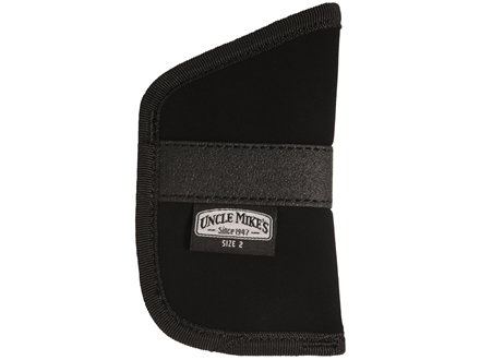 Uncle Mike's Inside-the-Pocket Holster Ambidextrous Small Frame Semi-Automatic380 ACP 4-Layer Laminate Black