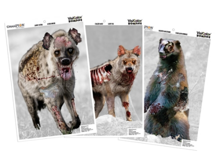 Champion VisiColor Zombie Vicious Animal Variety Pack Targets 12&quot; x 18&quot; Paper Package of 6