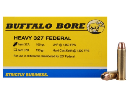 Buffalo Bore Ammunition 327 Federal 100 Grain Jacketed Hollow Point Box of 20