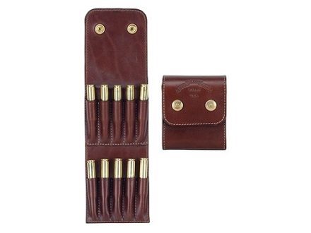 Galco Belt Rifle Ammunition Carrier 10-Round 7mm Remington Magnum, 300 Winchester Magnum, 300 Weatherby Magnum, 375 H&H Magnum Leather Brown