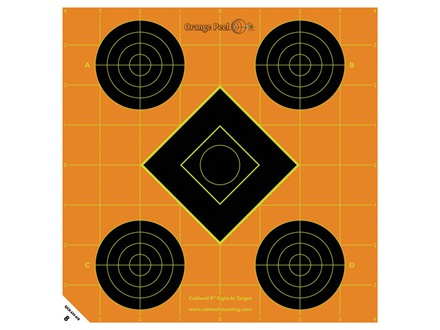Caldwell Orange Peel Target 8&quot; Self-Adhesive Sight-In Package of 100