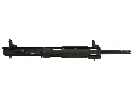 "DPMS LR-308 A3 SASS Flat-Top Upper Assembly 308 Winchester 1 in 10"" Twist 18"" Fluted Bull Barrel Stainless Steel Black with Quad Rail Free Float Handguard, Flip-Up Sights, Flash Hider"