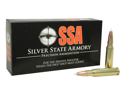 Silver State Armory Ammunition 7.62x51mm NATO 165 Grain Nosler AccuBond Tactical Box of 20