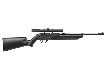 Crosman 760X Pumpmaster Air Rifle .177 Caliber Polymer Stock Black Blue Barrel with Scope 4x15mm
