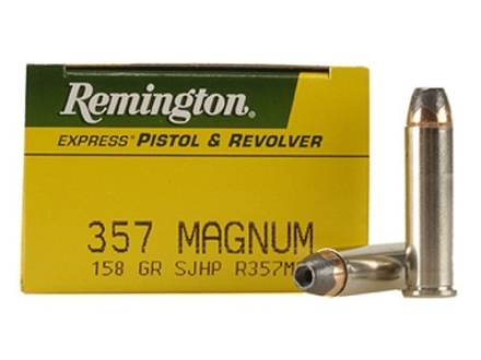 Remington Express Ammunition 357 Magnum 158 Grain Semi-Jacketed Hollow Point Box of 50
