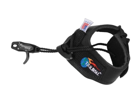 T.R.U. Ball Quickdraw Bow Release Speed Buckle Wrist Strap Black