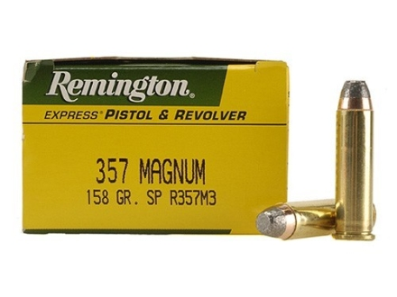 Remington Express Ammunition 357 Magnum 158 Grain Semi-Jacketed Soft Point Box of 50