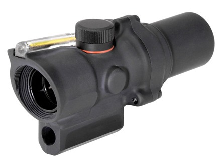 Trijicon ACOG TA44 Compact Rifle Scope 1.5x 16mm 12.1 MOA Dual-Illuminated Amber Ring and Dot Reticle with AR-15 Carry Handle Base Matte