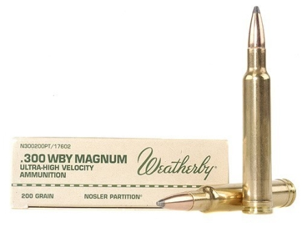 Weatherby Ammunition 300 Weatherby Magnum 200 Grain Nosler Partition Box of 20