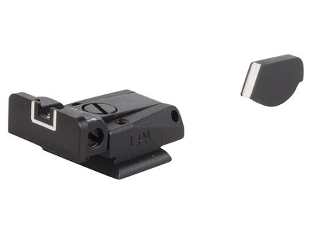 LPA SPR Sight Set Ruger P90, P91, P93, P94, P95, P97 Steel White Outline