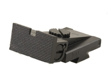 Kensight Adjustable Rear Sight 1911 Bo-Mar Cut Steel Black Square Blade Fully Serrated