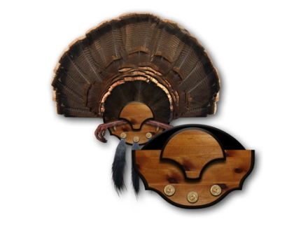 Mountain Mike&#39;s Beard Master Turkey Fan Mounting Plaque Polymer Wood Grain