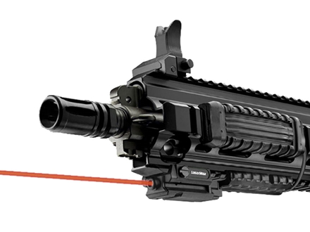 LaserMax Uni-Max ES External Laser with Integral Picatinny-Style Mount Matte Includes Momentary Activation Switch and MantaRail Cord Control System