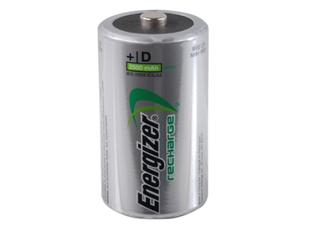 Energizer Battery D Rechargeable Pack of 2