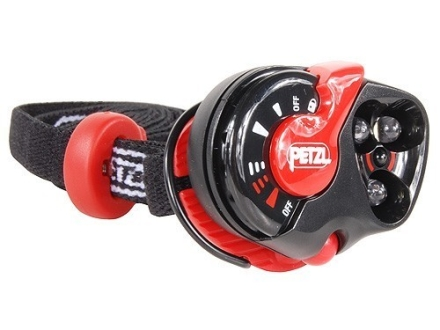 Petzl e+LITE Waterproof Headlamp 3 White LEDs and 1 red LED with Batteries (1 CR2032 Lithium) Polymer Red and Black