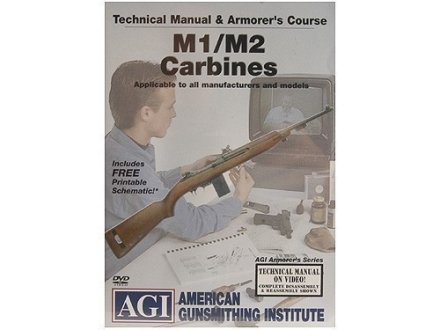 American Gunsmithing Institute (AGI) Technical Manual &amp; Armorer&#39;s Course Video &quot;M1/M2 Carbines&quot; DVD