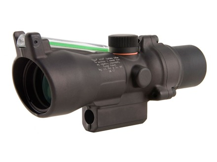 Trijicon ACOG TA50G-XB Crossbow Scope 3x 24mm Dual-Illuminated Green Chevron 400+ FPS Range Finding Reticle Matte