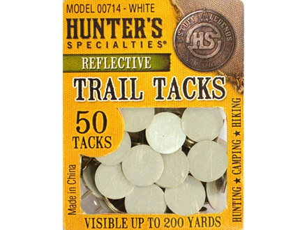 Hunter's Specialties Trail Tacks Reflective White Pack of 50