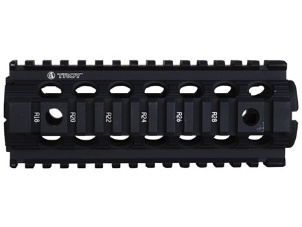 Troy Industries 7&quot; MRF CAR/M4 Drop-In Battle Rail 2-Piece Quad Rail Handguard Carbine Length AR-15