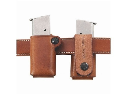 Galco Single Magazine Pouch 40 S&amp;W, 9mm Double Stack Metal Magazines Leather Tan